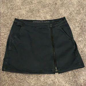 American Eagle black zipper mini skirt
